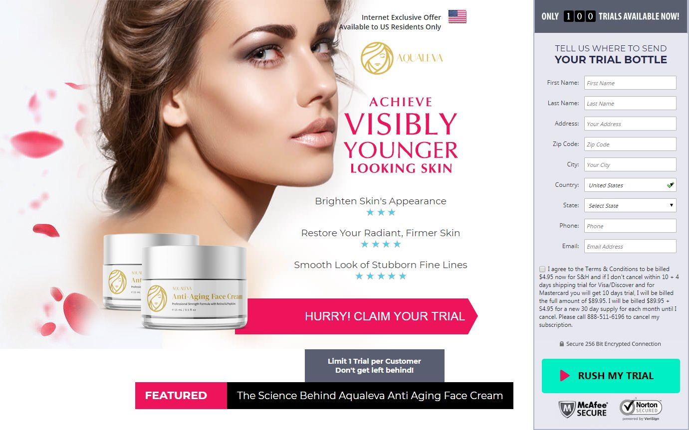 Buy Aqualeva Facec Cream