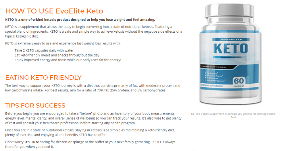 Evoelite Ketos Diet Pills Work